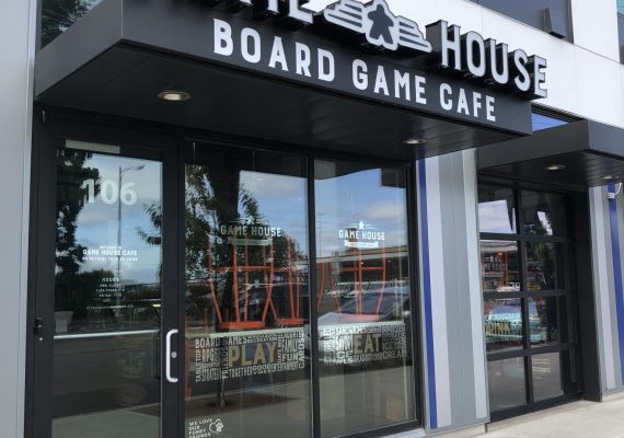 Game House Cafe Sign